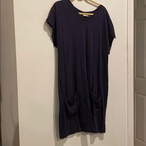 LOGO Lounge Purple long shirt w pockets scoop neck